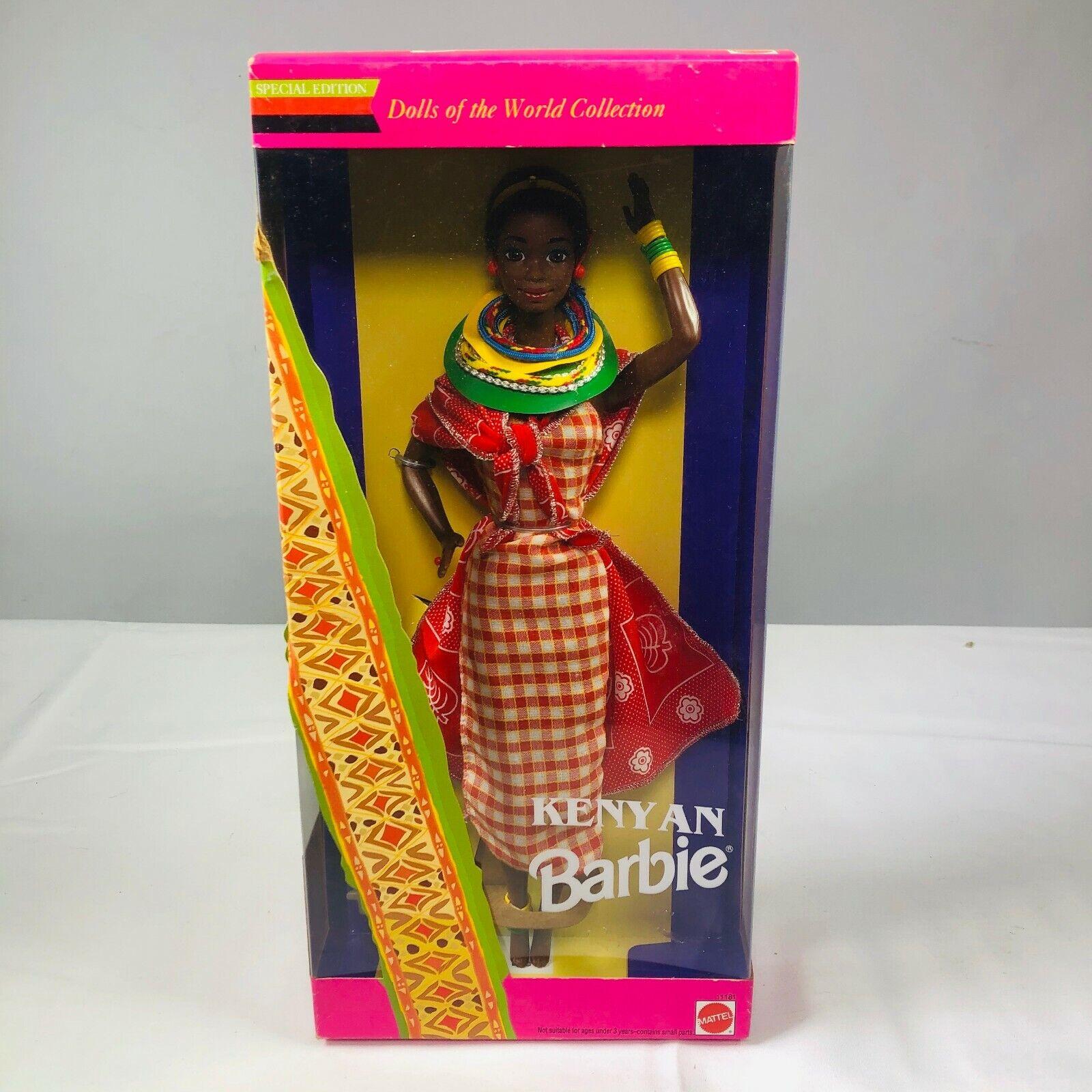 VINTAGE 1993 Mattel Kenyan BARBIE Limited Edition Dolls of the World Collection