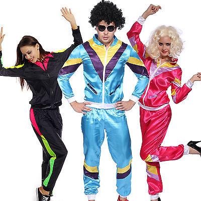 80er Erwachsene Kostüm Retro Trainingsanzug Sporthose Jogging Hose Jogging Anzug