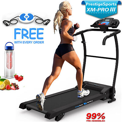 ADJUSTABLE INCLINE BLUETOOTH NERO PRO TREADMILL Electric Folding Running Machine Laufbänder Fitness & Jogging