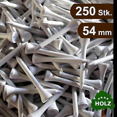 Golf Tees / Holz Tees / 54 mm / 250 Stk. / weiß / premium Qualität / Top