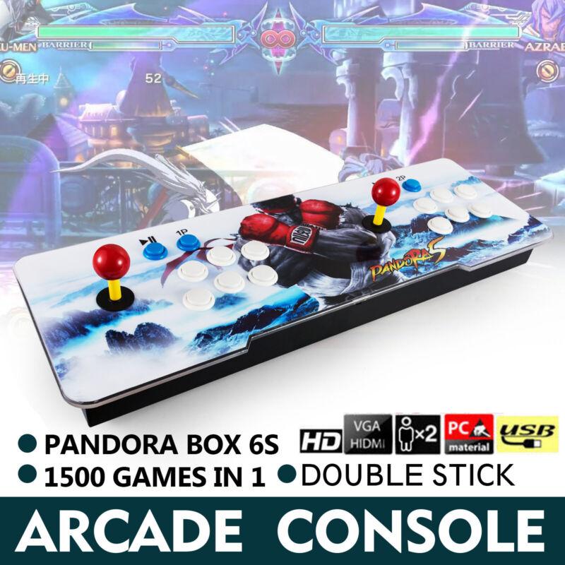 1500 in 1 Pandora Box 6S Retro Video Games Double Stick Arcade Console Light TV