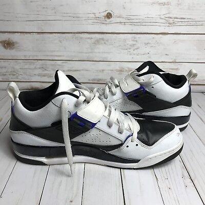 AIR JORDANS Men's Size 12 Shoes White Black and Purple 644846-108