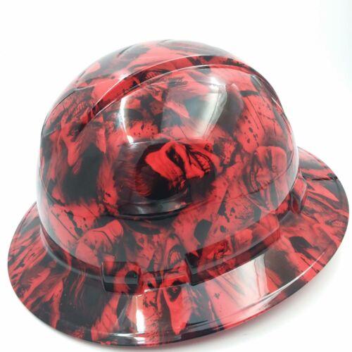 FULL BRIM Hard Hat custom hydro dipped , NEW RED SINISTER JOKER WICKED HOT NEW 2
