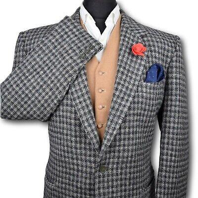 Harris Tweed Tailored Country Checked Blazer Jacket 44R PRISTINE GARMENT 152