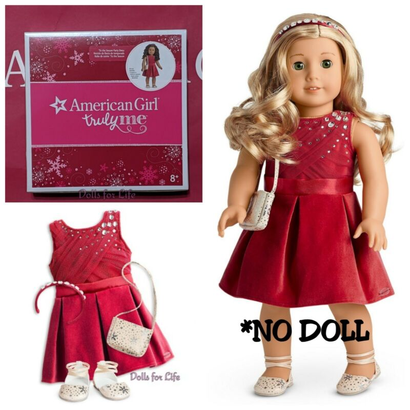 American Girl Tis the Season Party Dress Outfit Red Holiday Christmas NEW 🎄🎅
