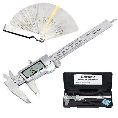Digital Vernier Caliperfeeler Gauge 6stainless Steel Electronic Measuring Tool