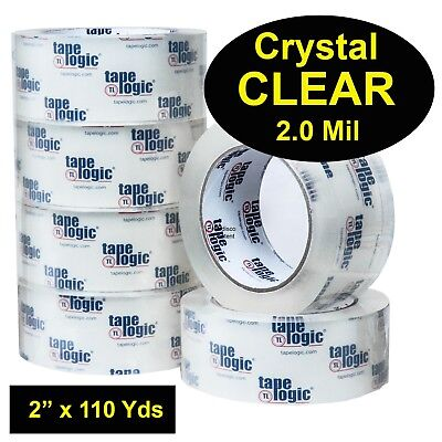 Tape Logic T902200CC Crystal Clear Acrylic Packing Tape 2.0Mil 2