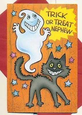 Happy Halloween Nephew Greeting Card 5