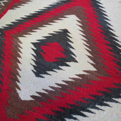 """Vintage Navajo 40"""" x 65"""" Rug Excellent Colors Ganado or Crystal Region Circa 30s"""