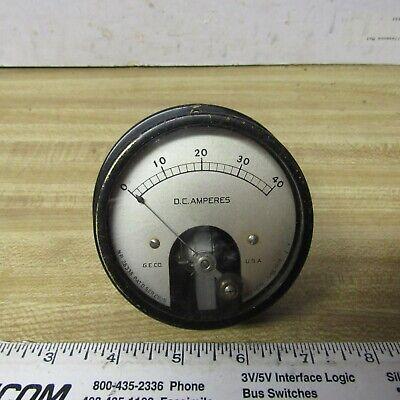 Meter Panel 40 A Dc 3 Inch Ge Vintage Steam Punk Ham Radio