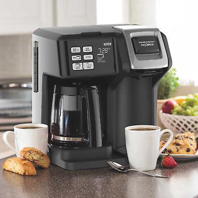 Hamilton Beach 12-Cup Flexbrew 2-Way Coffee Maker Black