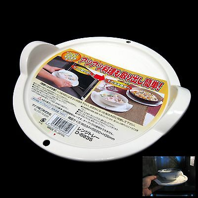 New Microwave Safe Polypropylene Handled Round Tray Microwave Plate White