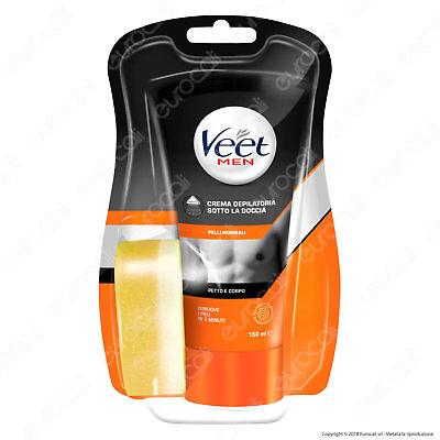 Veet For Men Silk & Fresh Crema Depilatoria per Uomo Sotto la Doccia - 150 ml