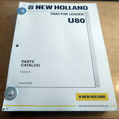 New Holland U80 Tractor Loader Parts Catalog Book Manual Nh