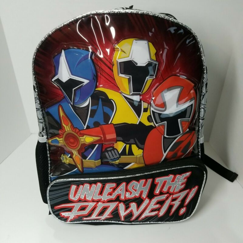 Power Rangers Backpack Full Size Book Bag NWT Unleash the Power