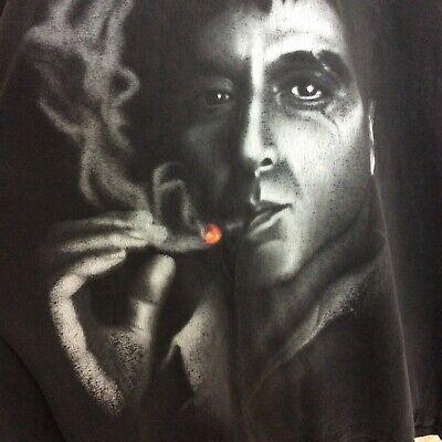 Vintage Scarface Clothing Men's Shirt Tee Cigar Cotton Size 4X