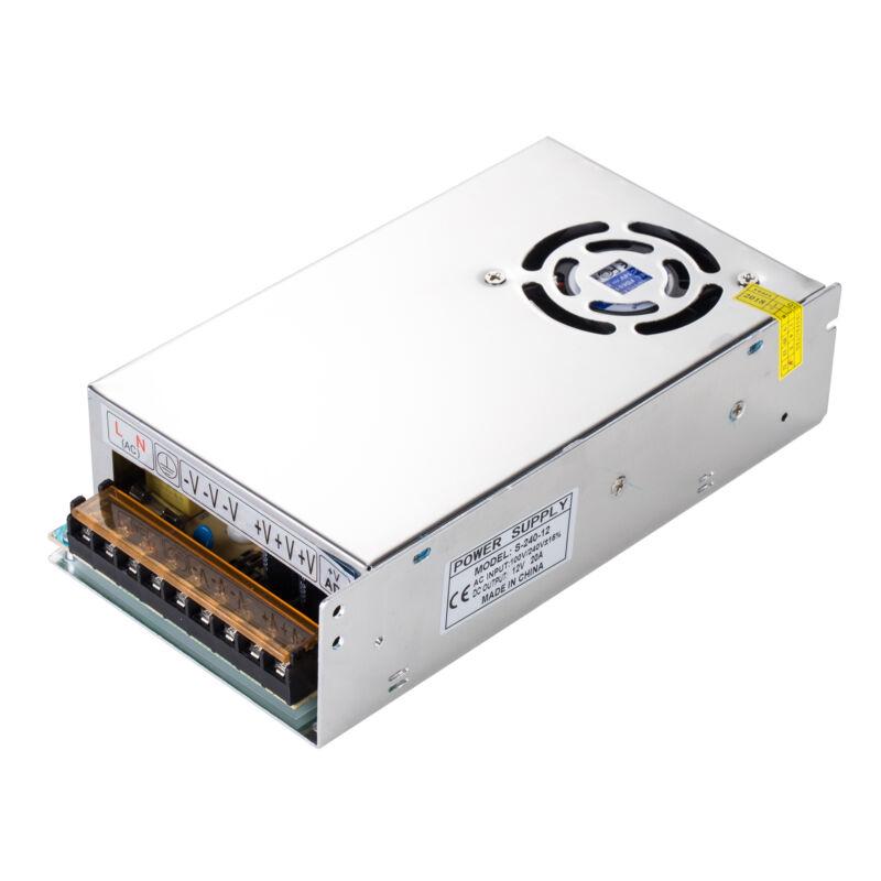 AC 110/220V to DC 12V 20A 240W Volt Transformer Switch Power Supply Converter US