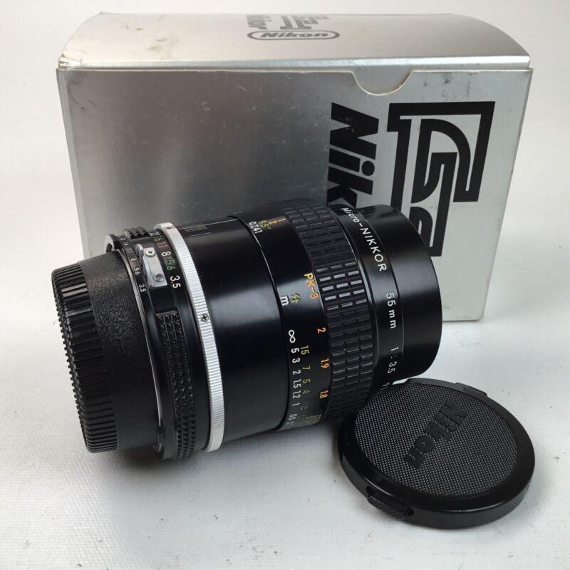 Nikon Micro Nikkor 55mm f3.5 AI Lens in Box Used EX+