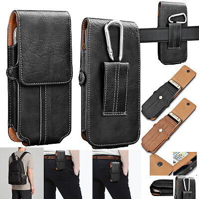 Carrying Vertical Pouch - Cell Phones Vertical Leather Carrying Pouch Case Cover Holster With Belt Loop