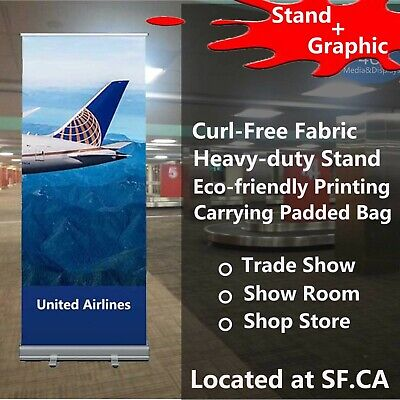 Standard Retractable Roll Up Banner Stand Free Eco-friendly Printing 40x80