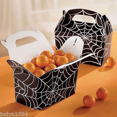 Halloween-spiderman (5 HALLOWEEN SPIDERMAN SPIDERWEB PARTY TREAT FAVOR GIFT BOXES COBWEB SPIDER BOX )