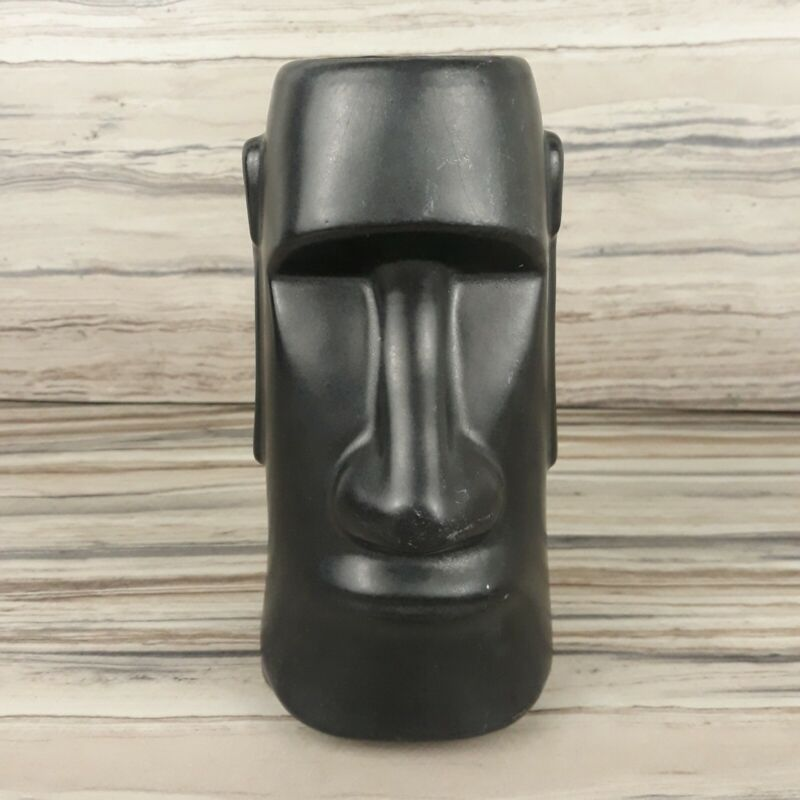 The Tikis Monterey Park Moai Tiki Mug Cup Black California Pottery  Barware