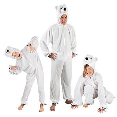 Eisbär Plüsch Kostüm  bis 1,95 m - Eisbären Partner (Eisbär Kostüm)