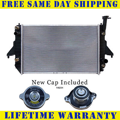 Radiator With Cap For Chevy Gmc Fits Safari Astro Van 4.3 V6 6Cyl 2003WC