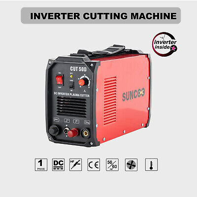 110v220v Digital Inverter Cutting Machine 50a Non-touch Pilot Arc Plasma Red