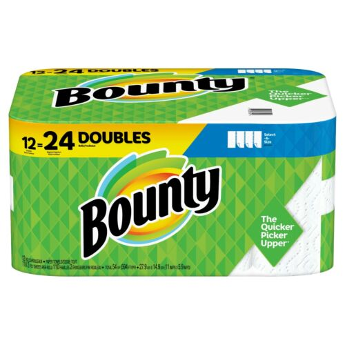Bounty Select-A-Size Paper Towels - White (12 Double Rolls)
