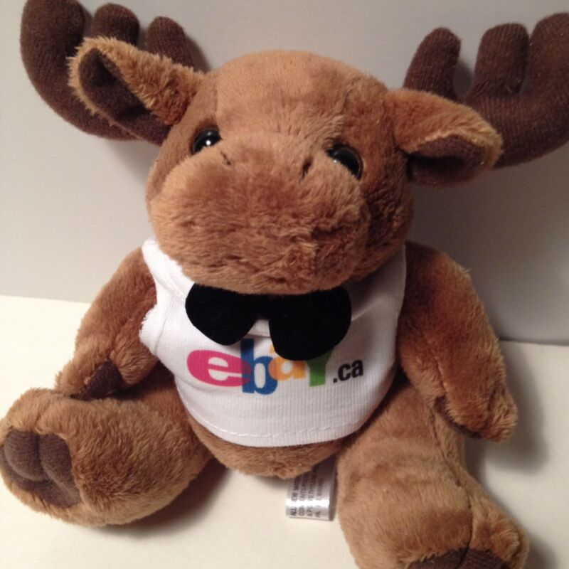 eBay Canada Plush Moose Ebayana Collectible Promo Stuffed Animal Toy 6 inch NEW