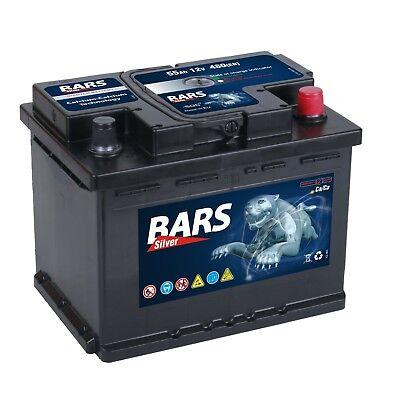 BARS Starterbatterie 12V 55 Ah 480A ersetzt 52Ah 54Ah 58Ah 60Ah 62Ah 63Ah 65Ah Blue Bb