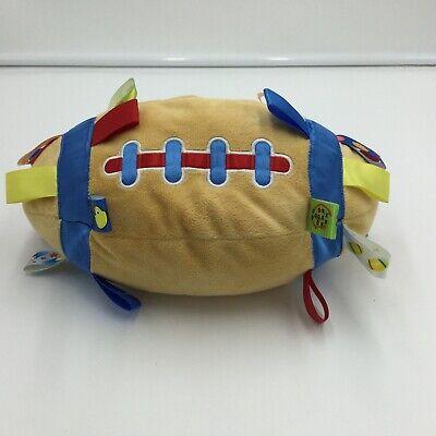 Soft Stuffed Football - Taggies Plush Football Rattle Soft Toy Stuffed 11