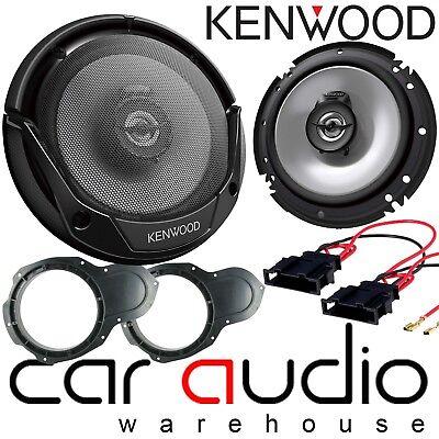 KENWOOD 600 Watts Front Door Car Speakers & Brackets fits VW Passat...