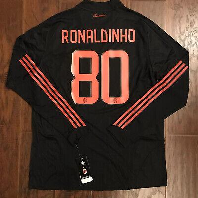 2008/09 AC Milan Third Jersey #80 Ronaldinho 2XL Long Sleeve Player Issue NEW