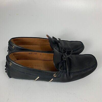The Original Car Shoe By Prada Mens Sz 11 Moccasins Black Genuine Leather