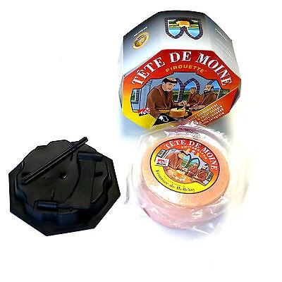 Tete de Moine AOP Käse 420g und Pirouette Käseschaber Kunststoffkäsehobel