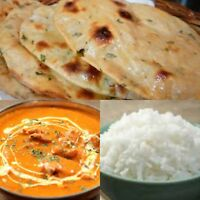 Butter Chicken, 4 Tandoori roti, rice