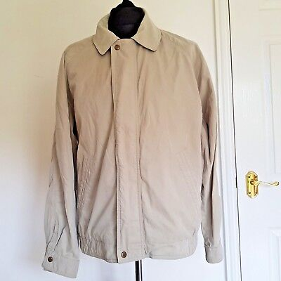 Sandstone Mens Bomber Jacket - Jaeger Men's Harrington Jacket Sand Stone Cotton Beige Size M Made In Italy