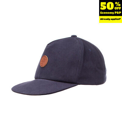 TIMBERLAND Kids Baseball Cap Size 8-10Y / 54 / S Leather Patch Snapback