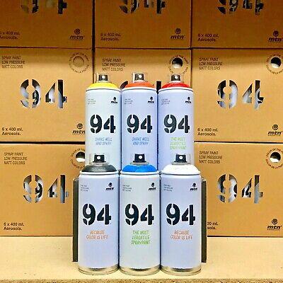 6x MTN 94 by Montana Colors 400ml Spray Paint - Full Range / Pick Any Colours