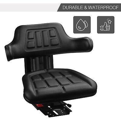 Black Suspension Seat Massey Ferguson Tractor 135150165175180185234240ia