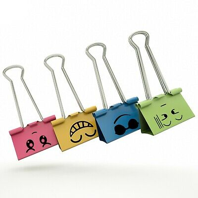 Color Binder Clips Small Size Color Metal Clips 34 Clamp 40 Counts