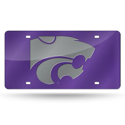 Purple Mirrored License Plate (Kansas State Wildcats NCAA Purple Mirrored Laser Cut License Plate Laser)