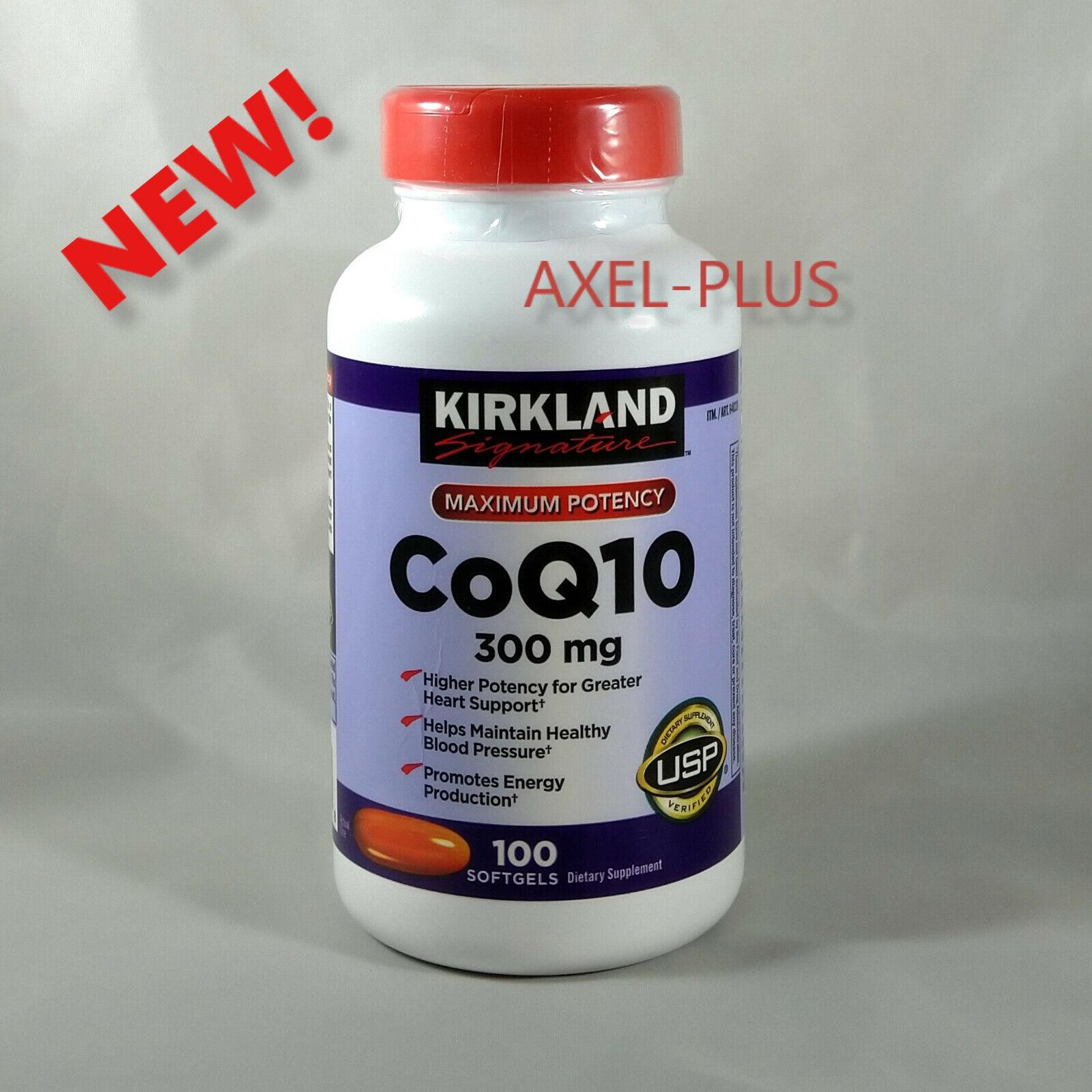 Kirkland Signature CoQ10 300 mg 100 Softgels Maximum Potency