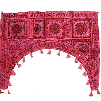 Türbehang Toran Thorang Patchwork 100 cm Rundbogen Indien Wandbehang Magenta rb