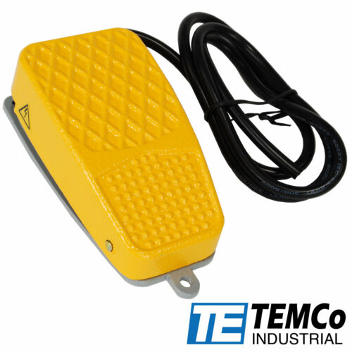 TEMCo Aluminum Foot Switch 10A SPDT NO NC Electric Power Pedal Momentary New CNC