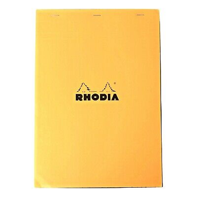 Bloc Rhodia 5mm Graph 8.25 X 11.75 Top Stapled 80 Sheets Orange Pads