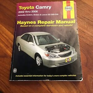 Haynes Manual '02-'06 Toyota Camry, + others