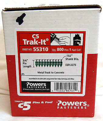 Powers 55310 34 Pins For C5 Trak-it Gun-box Of 800